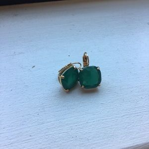Green sparkly Kate Spade earrings